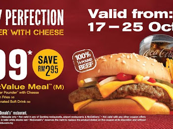 OFFER TERKINI dari MCD shingga 25 OCT 2011