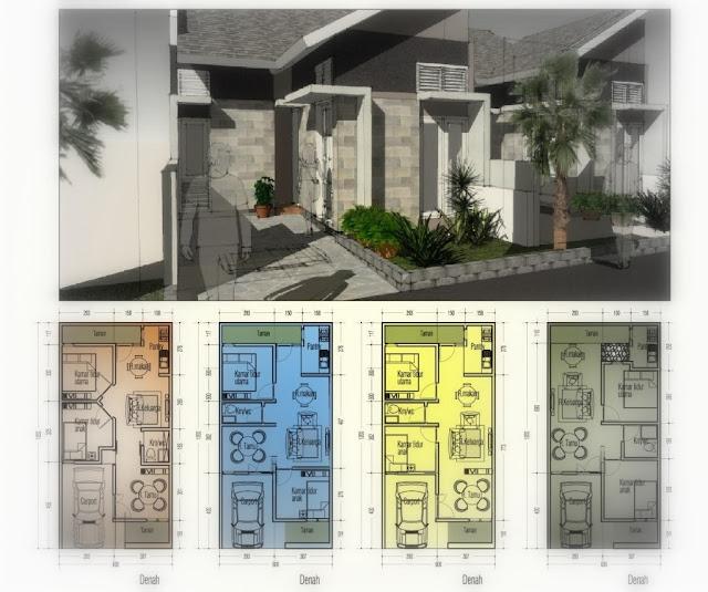 minimalis istanaku sketsa dan denah rumah minimalis