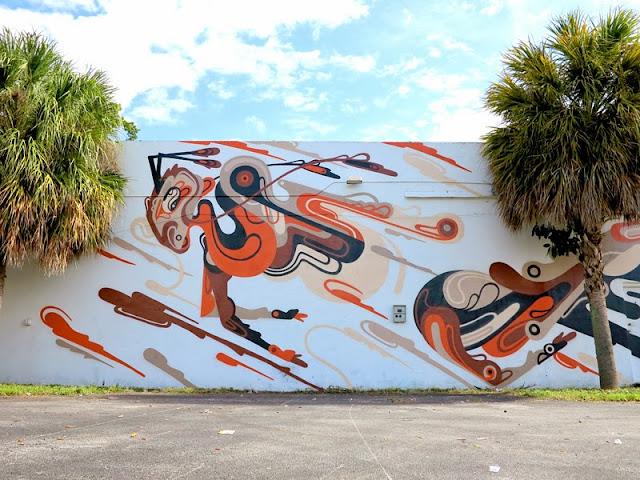Street Art Mural By Australian Artist REKA in Miami, Florida for Art Basel 2013. 3
