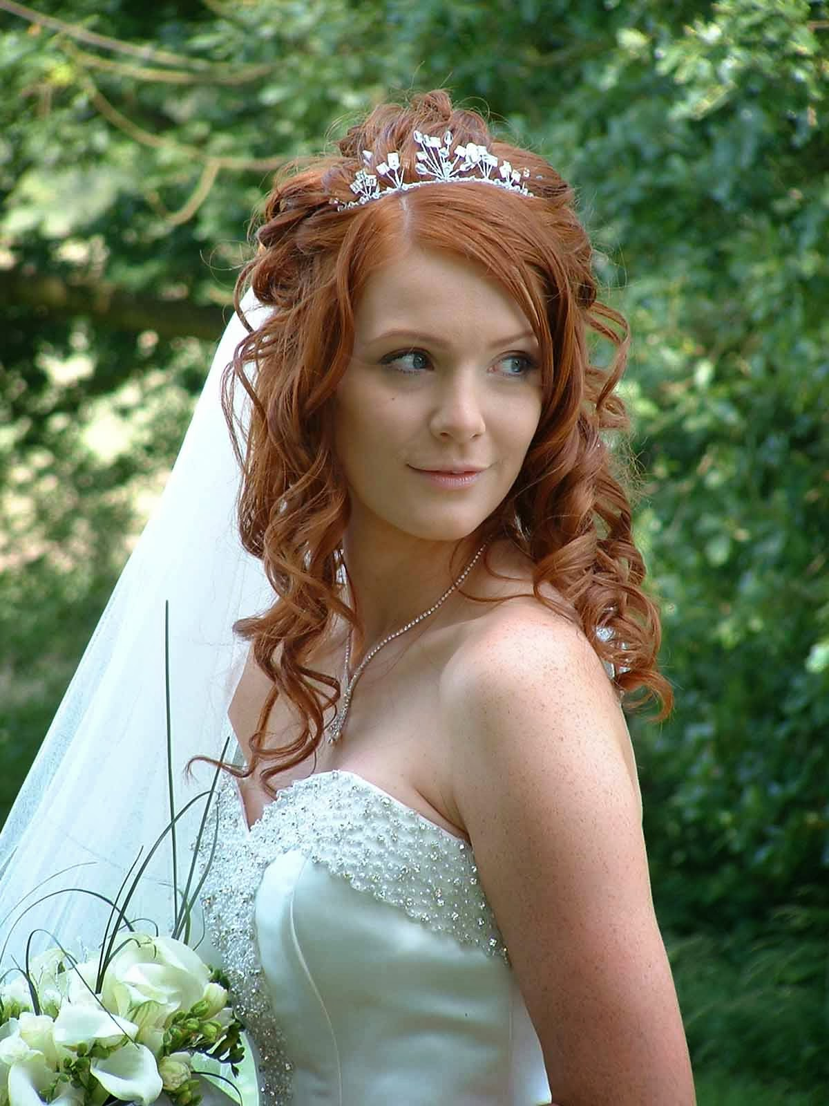 Wedding Hairstyles With Tiara Hairstyle Trends - Hairstyle with wedding gown