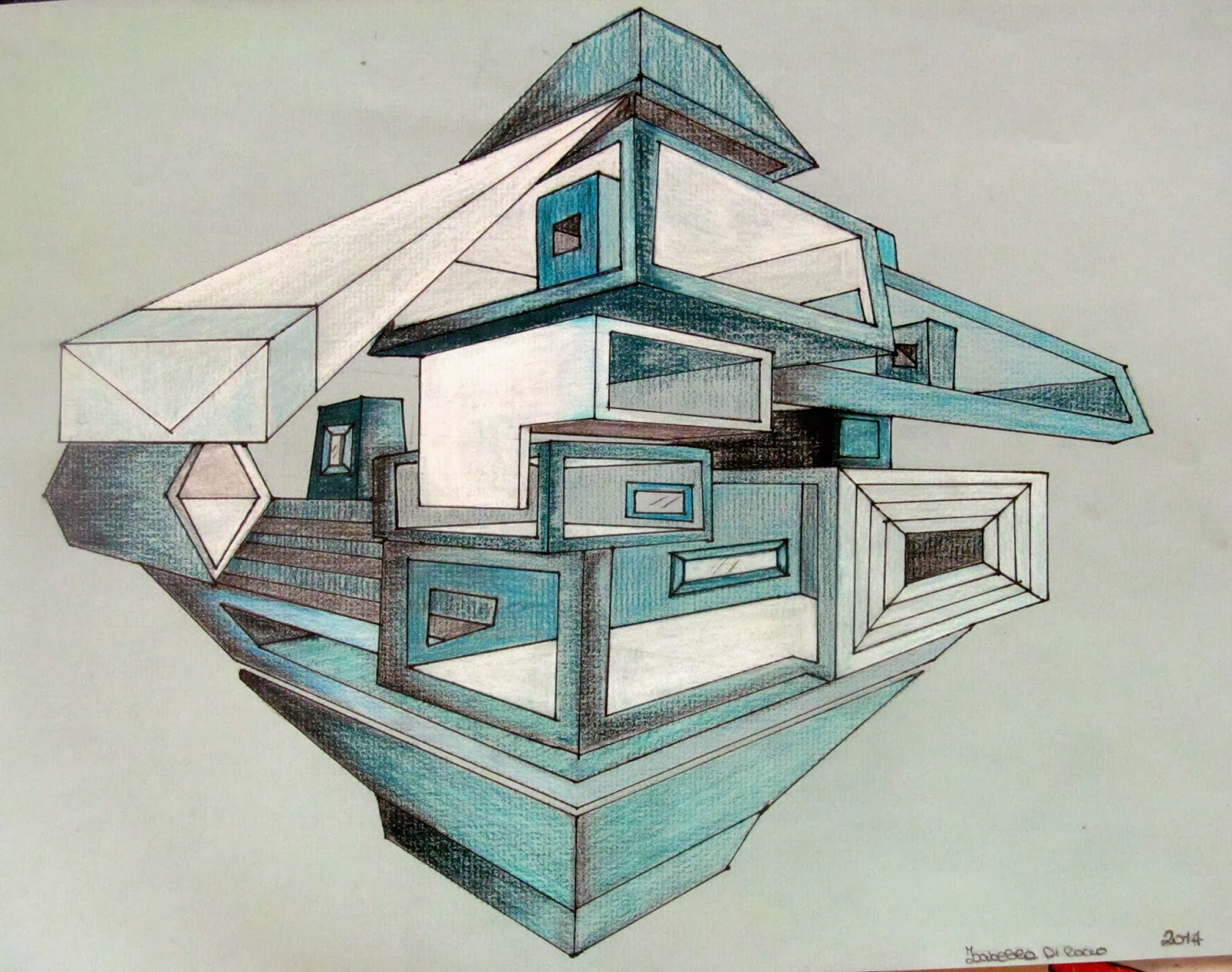D Darawings Of Buildings  Point Perspective
