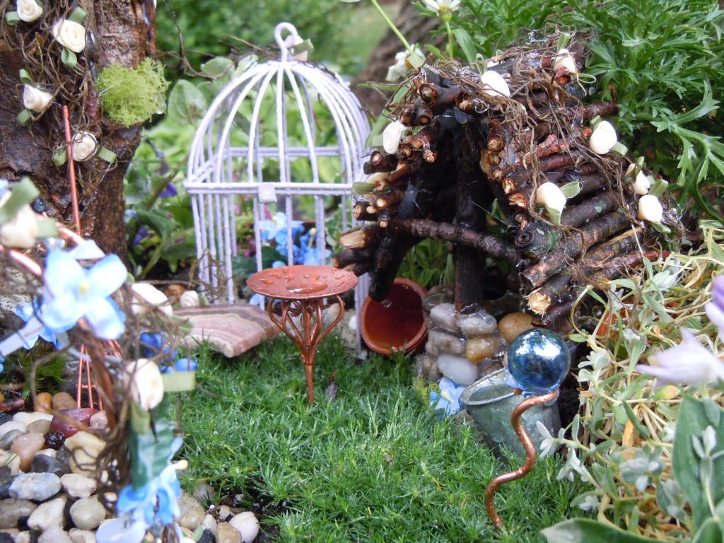 Outdoor Fairy Garden Ideas Photograph | Large Fairy Garden I