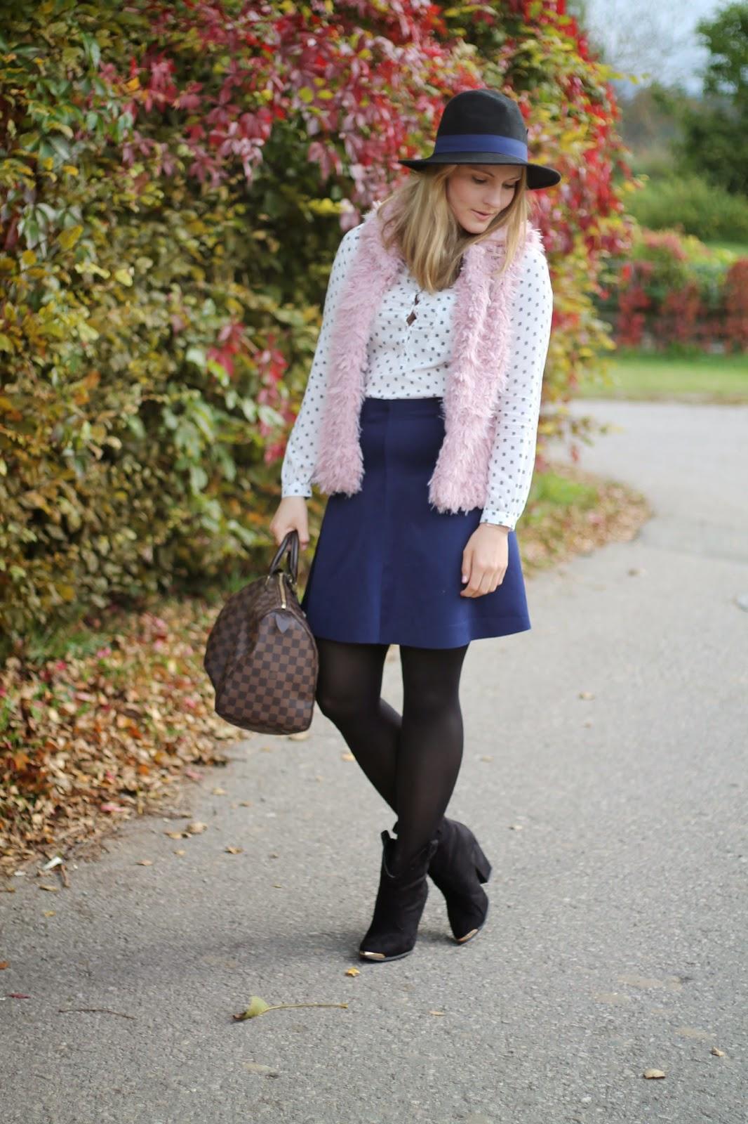 lavender star outfit pink fur vest meets blue skirt. Black Bedroom Furniture Sets. Home Design Ideas