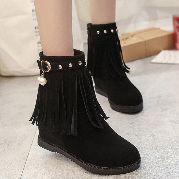 ♡ Fringe boots ♡