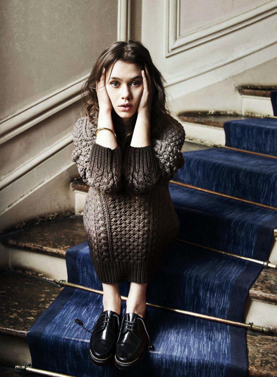 via fashioned by love | Astrid Berges-Frisbey in Dream Weaver | Elle US August 2014 (photography: Dan Martensen, styling: Vanessa Chow)