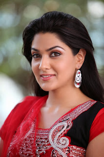 Actress Sakshi Choudhary Latest Picture Gallery in Red Salwar Kameez 0005.JPG