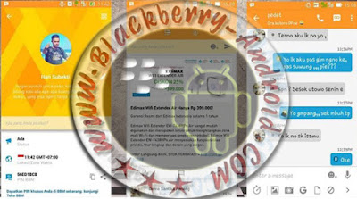 BBM Mod Talk Simple Orange Themes New v2.9.0.51 Apk