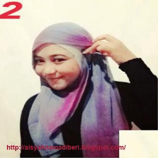 Cara Memakai Jilbab Kreasi Jilbab Paris Segiempat Gradasi Warna
