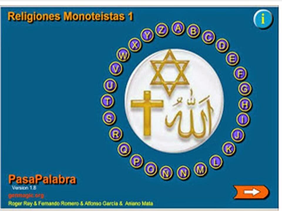 PASAPALABRA RELIGIONES MONOTEISTAS