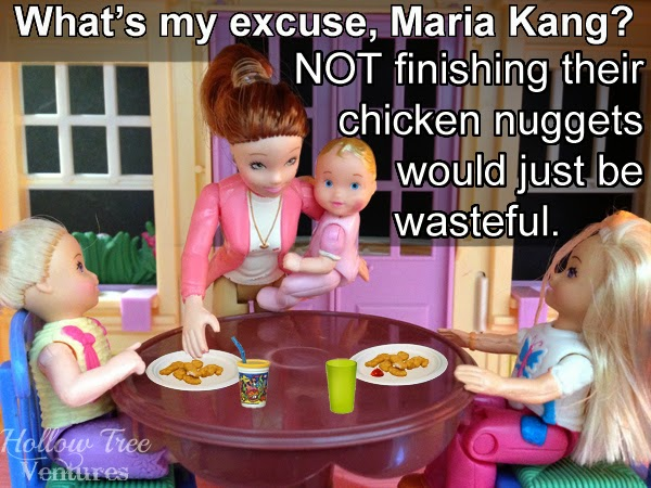 As the Dollhouse Turns responds to Maria Kang with dinner by Robyn Welling @RobynHTV