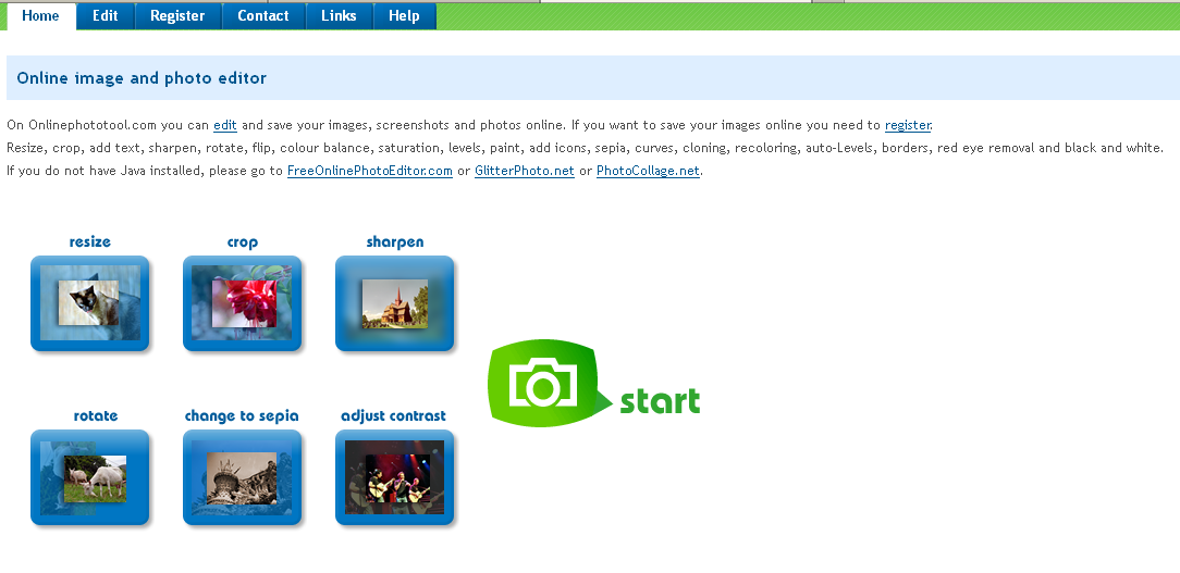 List of Free Online Photo Image Editor and Effects ...