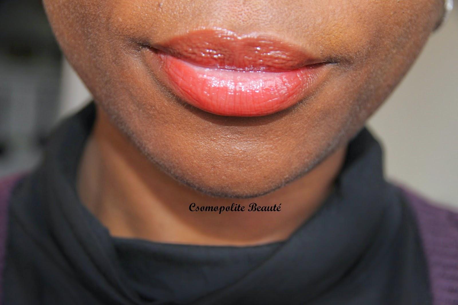 Lipstick, blackskin, Color Elixir, Gemey Maybelline, laque à lèvres, rouge à lèvres, fushia, orangé, Cosmopolite Beauté, bouche