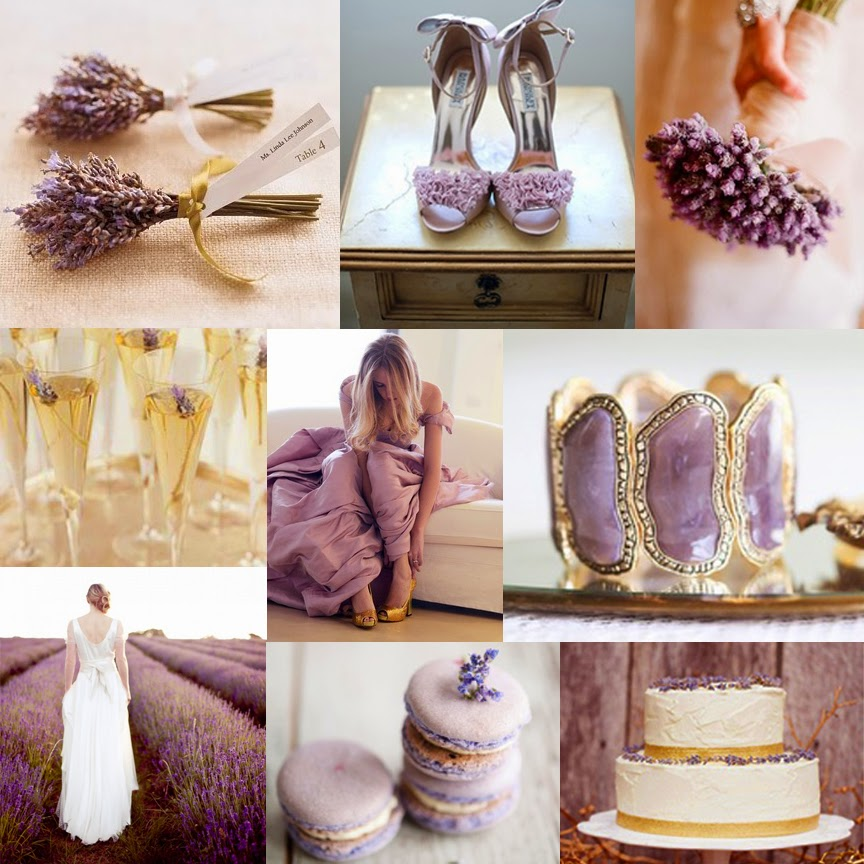 Pretty lavender and shimmering gold details