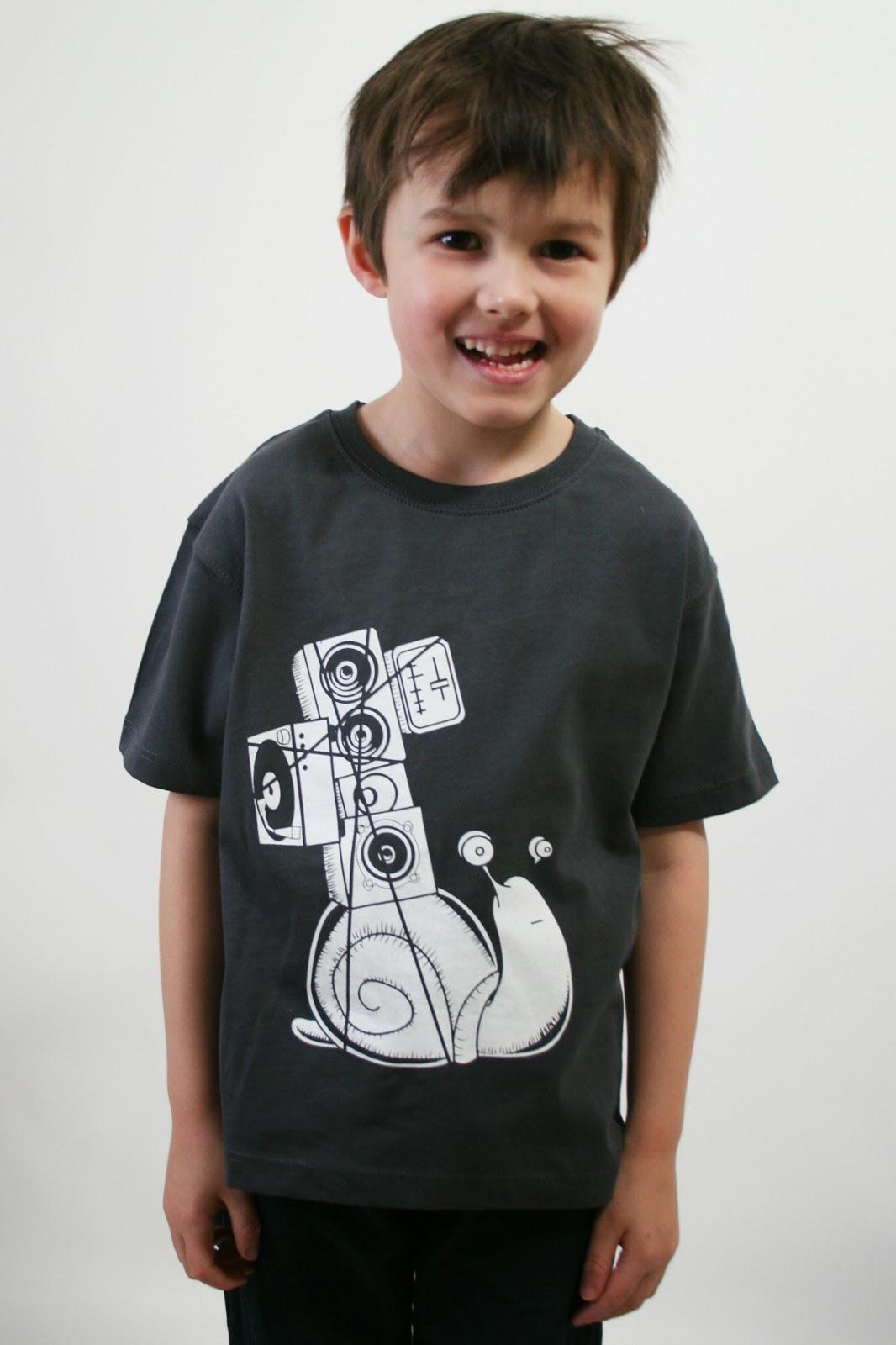 Kindershirt mit Soundschnecke in grau