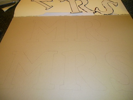 Diy Mr Mrs Chair Signs how to