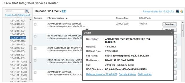 cisco 1841 ios 12.4 download