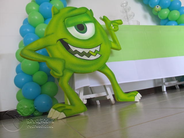 Decoracion monster inc o university fiestas infantiles medellin