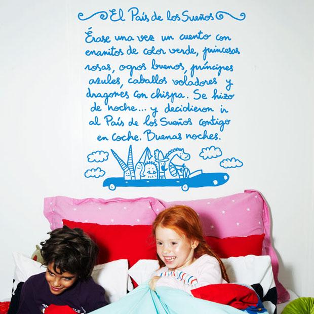 Vinilo,pared,Chispum,vinil,wall,cuento,story,kids,children,niños