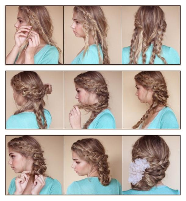 Bohemian Braided Updo Hairstyle