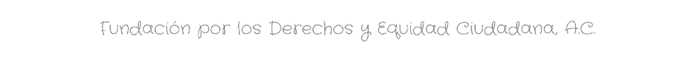 .: FUNDECI Fundación por los Derechos y Equidad Ciudadana, A.C. :.