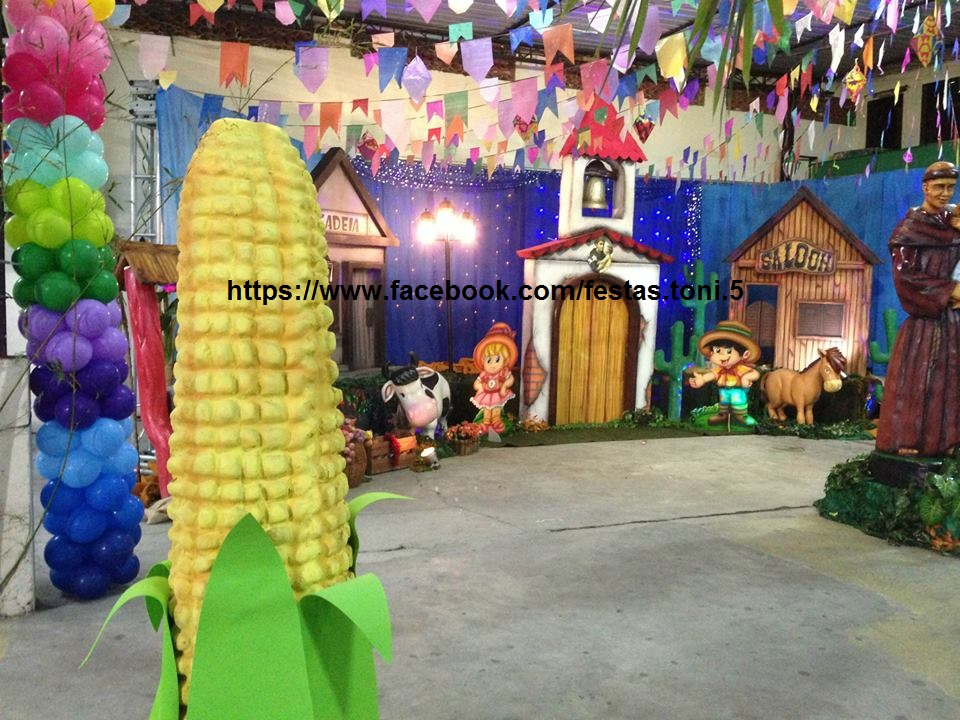 decoracao festa caipira:Festas Toni – Decoração de Festa Infantil: Festa Caipira – Cenário