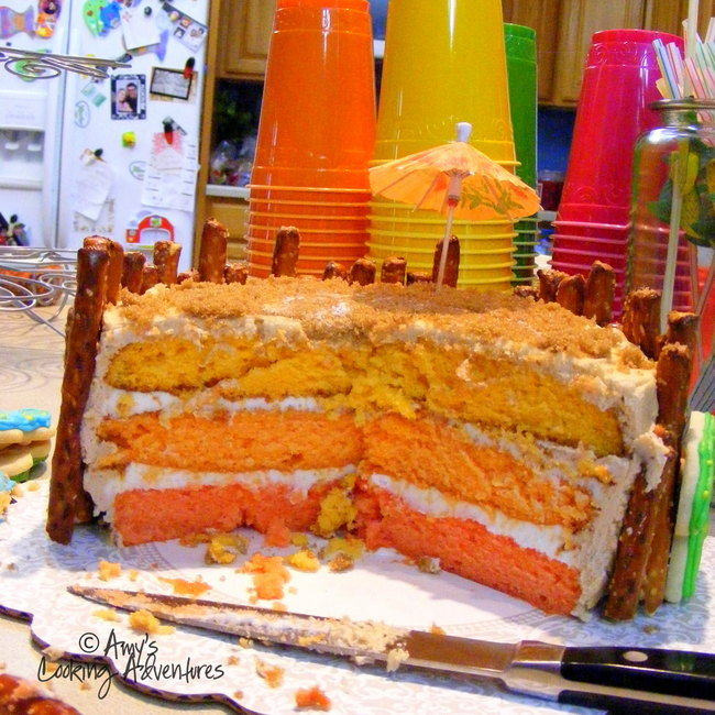 amy s cooking adventures tequila sunrise tiki cake
