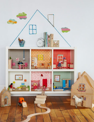 Motherhood Mondays: Bookcase dollhouse