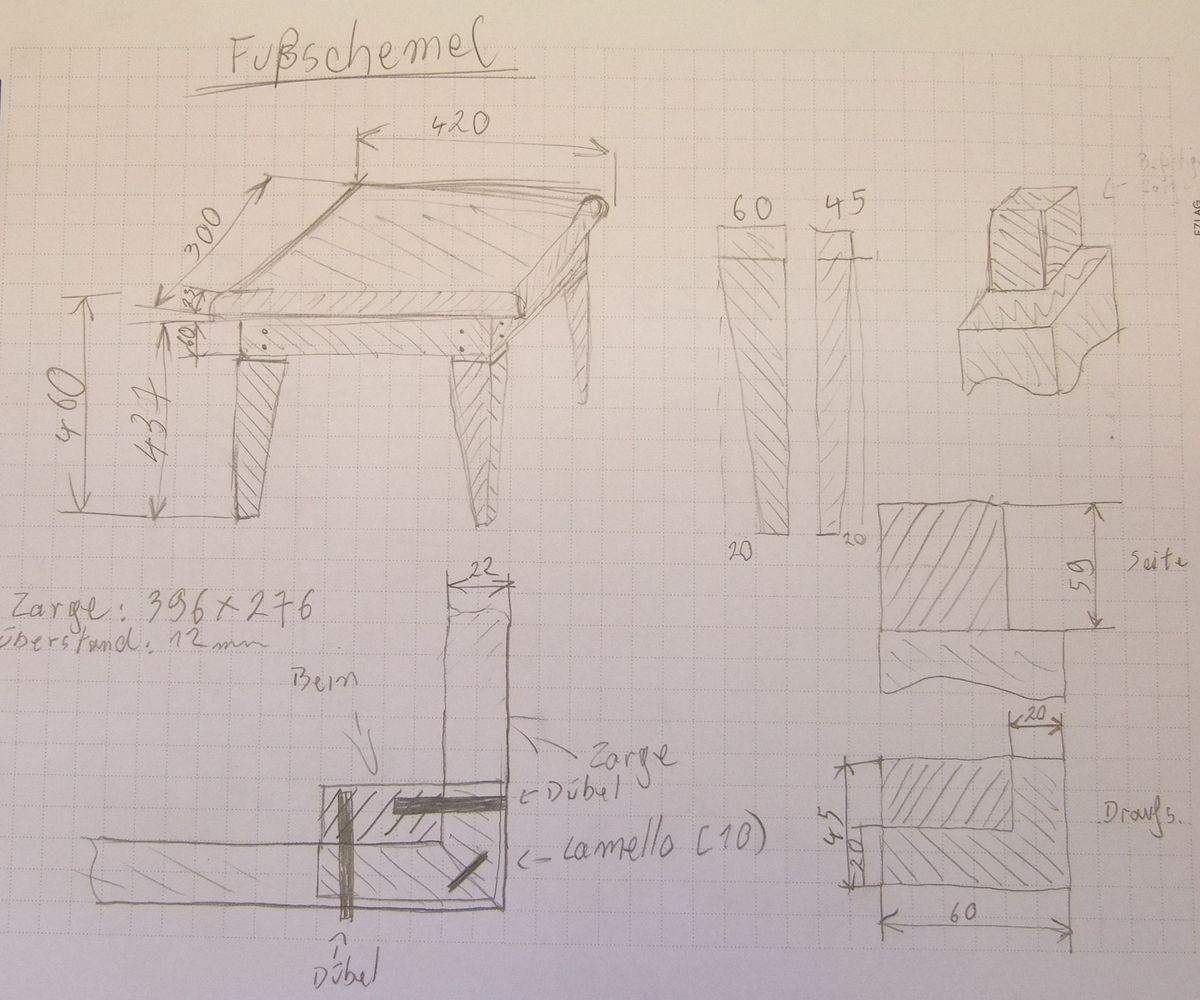 Michas Holzblog: Projektvorstellung: Kleiner Hocker oder hoher ...