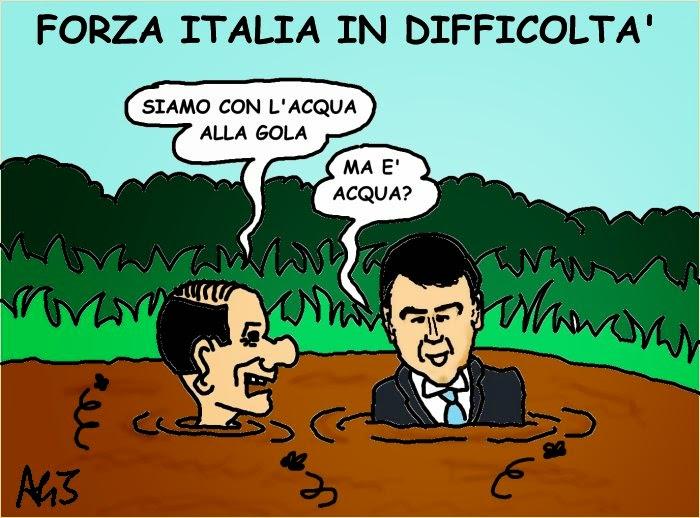 vignetta Berlusconi, Forza Italia