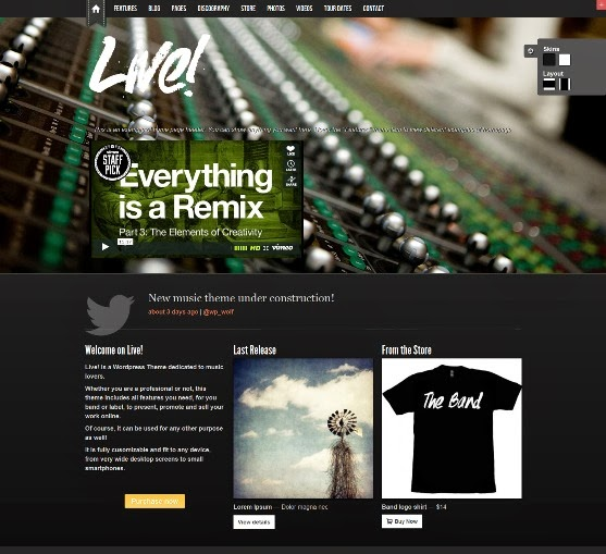 Live - Music WordPress Theme