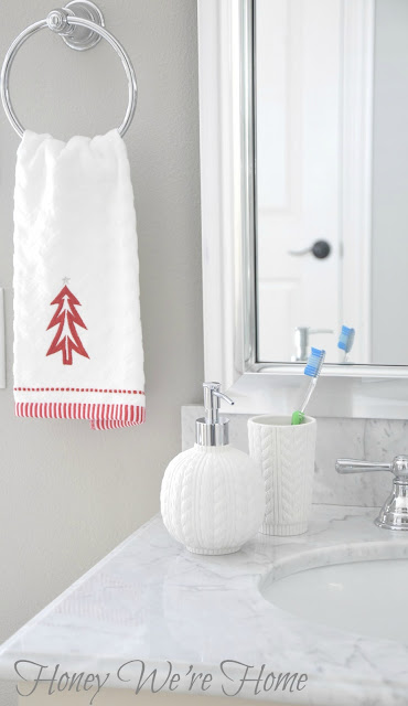 Honey we 39 re home target holiday accessories in the bathroom for Bathroom decor target