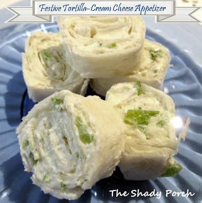 Tortilla Cream Cheese Appetizer by The Shady Porch