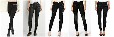 Forever 21 Mid Rise Zippered Skinny Jeans $17.80  Forever 21 Life In Progress Zipped Skinny Jeans $27.90 Alloy Joplin Zipper Pant $41.90  DKNY Jeans Moto Ultra Skinny Jeans $69.99 (regular $89.50)  Big Star Alex Skinny Jean with Front Zippers $74.99 (regular $148.00)