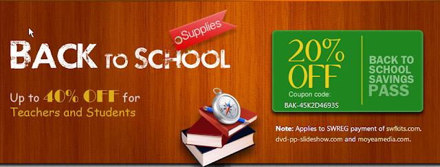 Moyea Back to School sales
