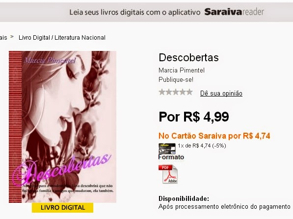 http://www.livrariasaraiva.com.br/produto/7309903 Descobertas