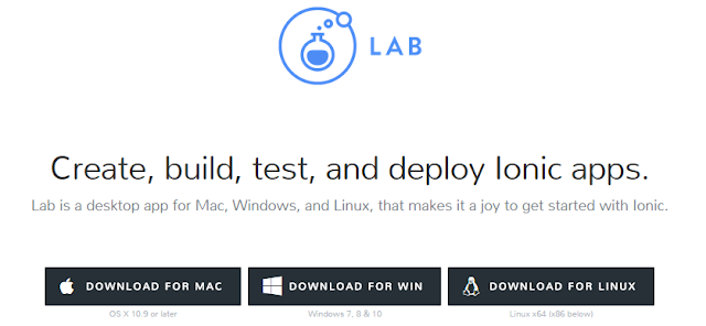 IonicLab for Windows