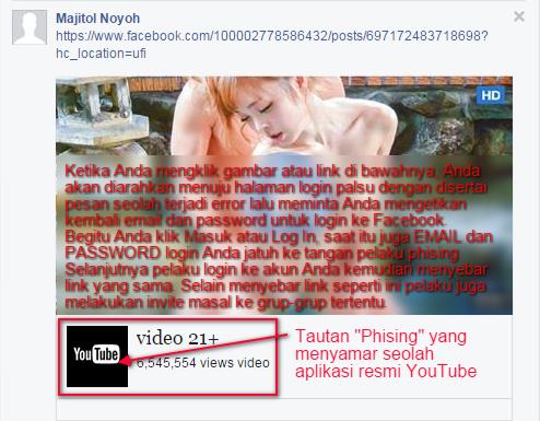 Cara Mengatasi Malware di Facebook 2016 - Phishing