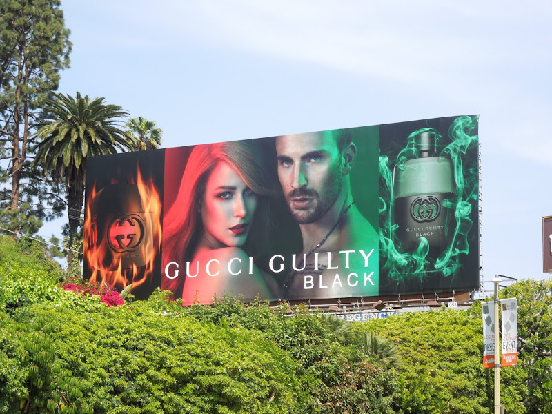 Gucci Guilty Black fragrance billboard