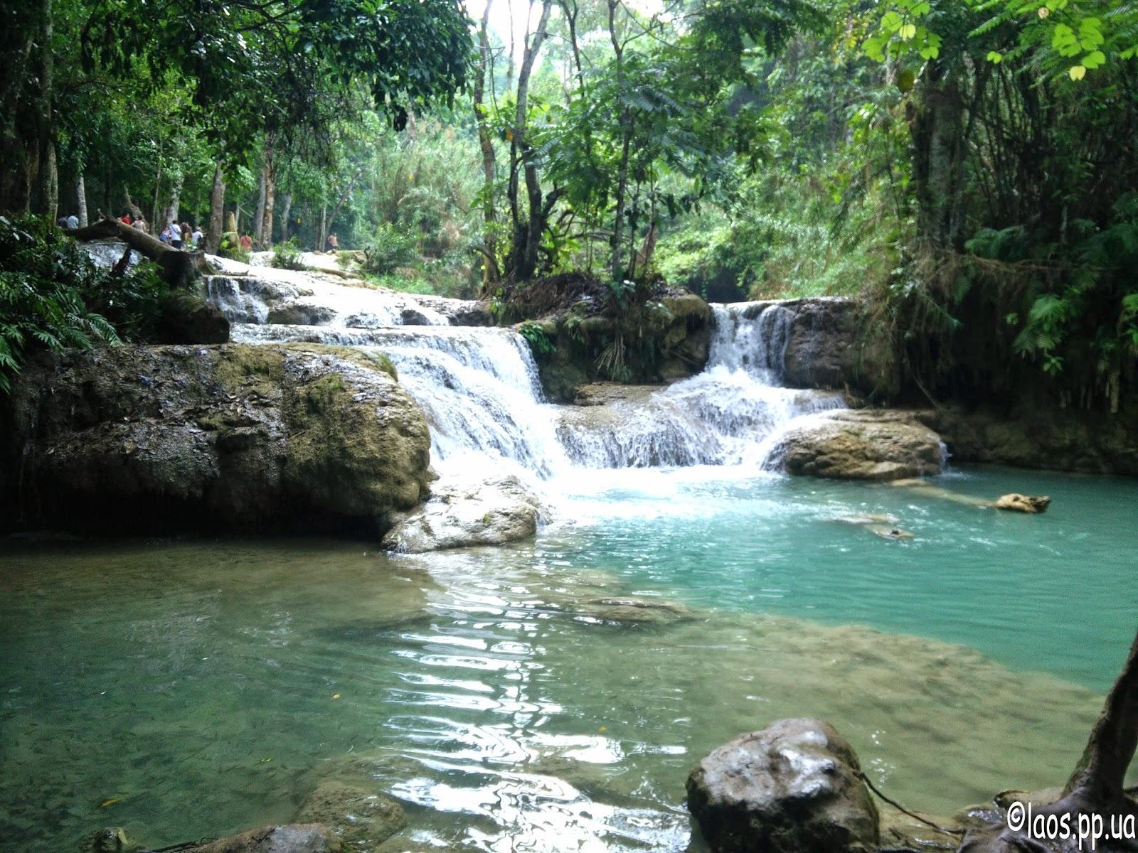 Водопады Луанг Прабанг