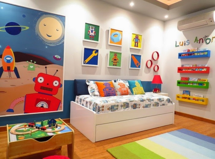 Cuartos divertidos para ni os dormitorios colores y estilos - Colores para dormitorios infantiles ...