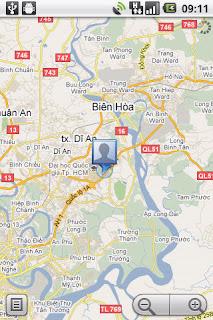 Ứng dụng map google để tìm vị trí cần đến