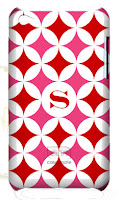 Personalized iPod Touch Case Pink and Red
