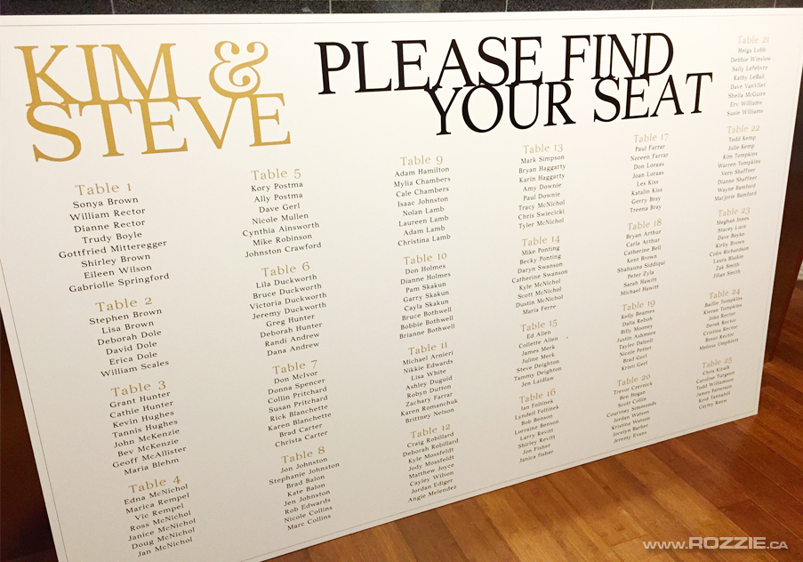 I Designed And Drew These Wedding Signage Boards Printed Table Seating Chart 200 Guest List For Lovely Kim Steve