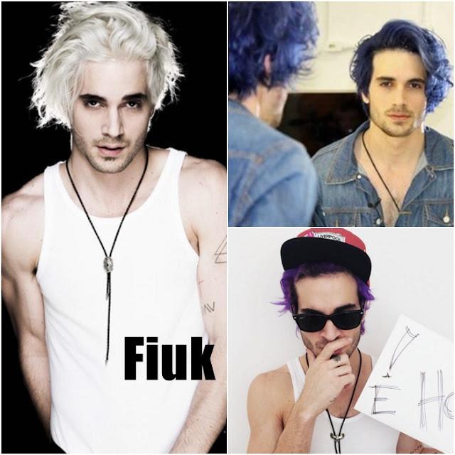 Fiuk foi do platinado para o azul e roxo