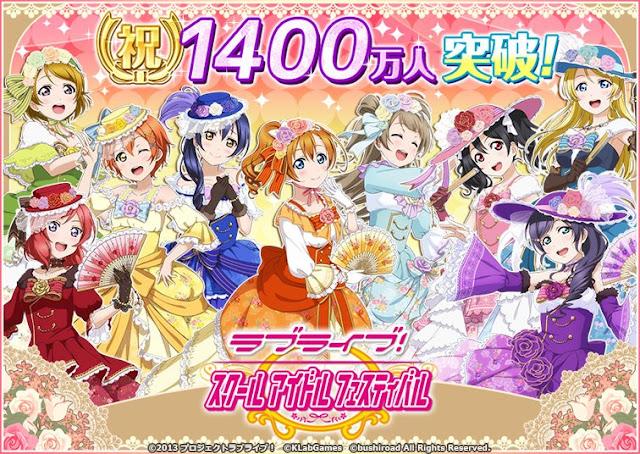 Gra Love Live! School Idol Festival z 14 milionami graczy