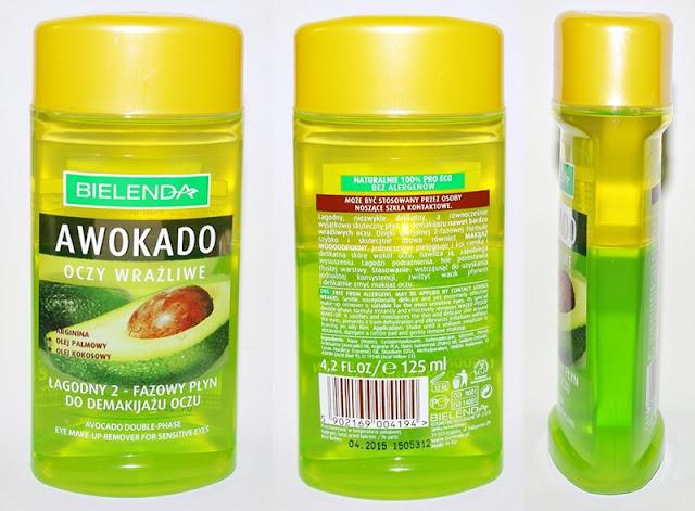 Bielenda Awokado, dwufazowy płyn do demakijażu