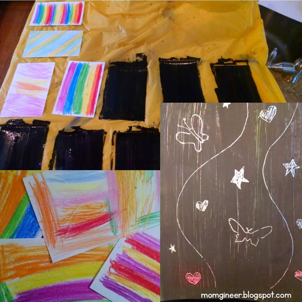 Homemade scratch art paper