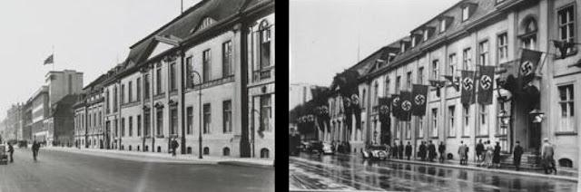 Вильгельмштрассе (нем. Wilhelmstraße) — знаменитая берлинская улица, расположена в районах Митте и Кройцберг. На Вильгельмштрассе располагались правительственные учреждения Пруссии и Германской империи до 1918г. «Вильгельмштрассе» — нарицательное обозначение имперского правительства так же, как Уайтхоллом называют правительство Великобритании.  Улица ведёт в направлении с севера на юг. На севере она начинается у Рейхстага (набережной реки Шпрее), пересекает бульвар Унтер-ден-Линден у восточной стороны Парижской площади и Лейпцигскую улицу и заканчивается у Галльской набережной (нем. Hallesches Ufer) вблизи Галльских ворот (нем. Hallesches Tor) в Кройцберге. На участке между улицей Беренштрассе (нем. Behrenstraße) и Унтер-ден-Линден Вильгельмштрассе закрыта для автотранспорта для безопасности британского посольства.  Став королём Пруссии, Фридрих Вильгельм I решил расширить территорию Берлина и соответственно Фридрихштадта. В 1731 году во Фридрихштадте была проложена Гусарская улица (нем. Husarenstraße), которая после смерти Фридриха Вильгельма I получила его имя.  В северной части улицы были построены дворцы министров и приближённых к королю. Три таких дворца благодаря представительному курдонёру получили особо импозантный вид: дворец Шверина (позднее Дворец рейхспрезидента), дворец Шуленбурга (позднее рейхсканцелярия) и дворец Вернезобра (позднее Дворец принца Альбрехта). Вид в направлении Унтер-ден-Линден и гостиницы «Адлон»  К началу XIX века на Вильгельмштрассе разместились ключевые министерства Пруссии. С 1871 года на Вильгельмштрассе расположились правительственные учреждения Германской империи. В непосредственной близости возводились здания иностранных посольств. Во Вторую мировую войну многие здания на Вильгельмштрассе были разрушены бомбами или в ходе уличных боёв и после 1945 года были снесены. В 1980-е годы на участке между Беренштрассе и Фоссштрассе (нем. Voßstraße) были построены предприятия торговли и панельные жилые дома с красиво оформленными фасадам