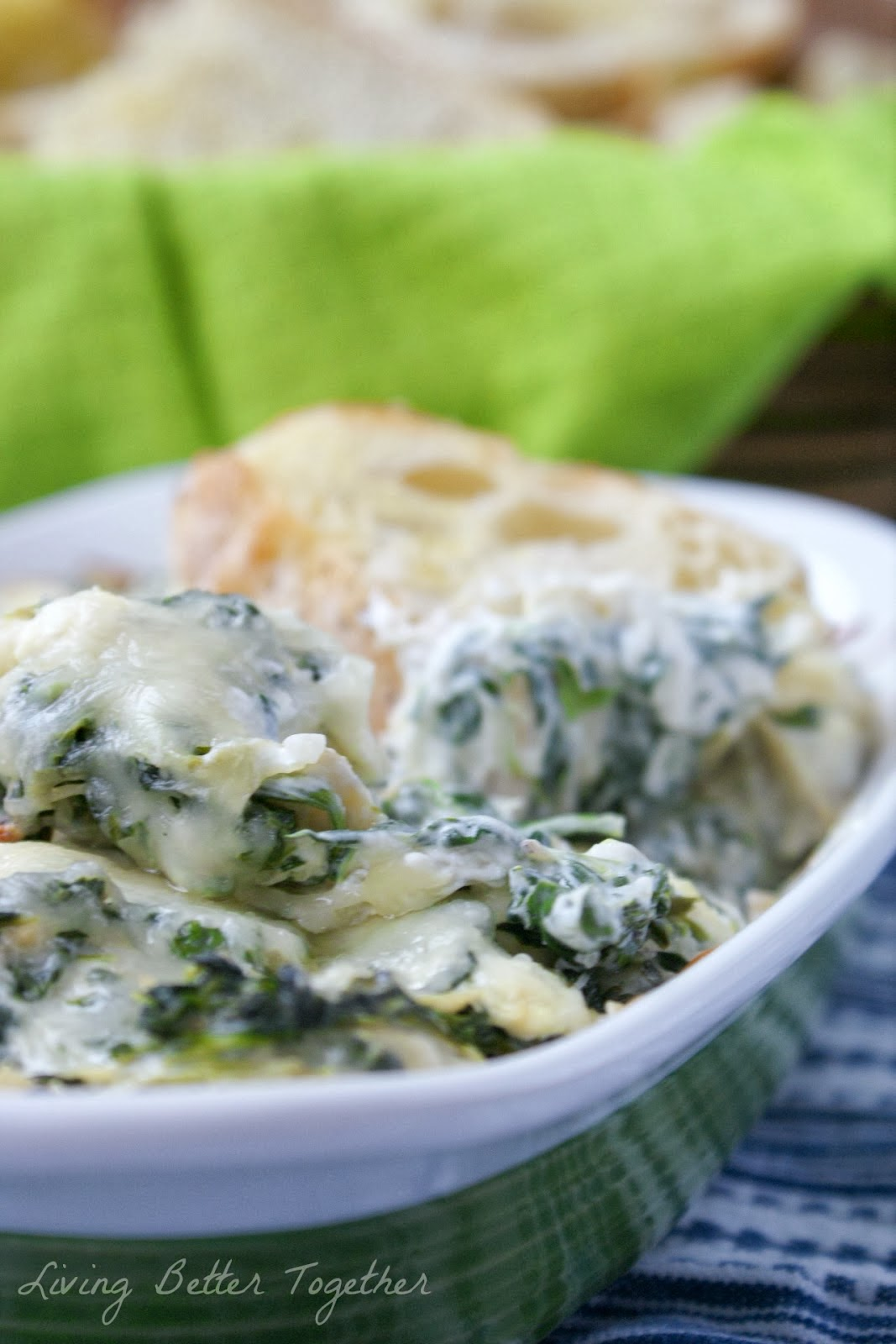 Baked Spinach & Artichoke Dip from Living Better Together for www.anyonita-nibbles.com