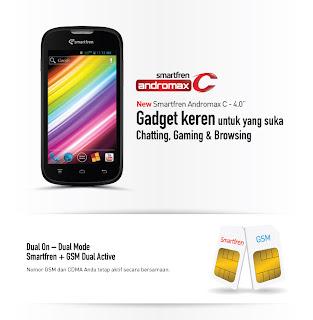 Smartfren Andromax C HP Android Dual Core harga dibawah 1 juta
